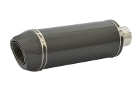 SP Engineering Slip On Round Carbon Outlet Diabolus Stubby Carbon Fibre Exhaust