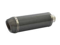 SP Engineering Slip On Round Carbon Outlet Diabolus XLS Carbon Fibre Exhaust
