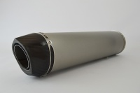 SP Engineering Slip On Round Carbon Outlet Diabolus XL Brushed Stainless Exhaust