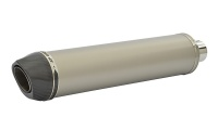 SP Engineering Slip On Round Carbon Outlet Diabolus XL Plain Titanium Exhaust