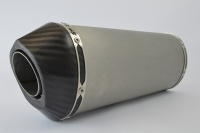SP Engineering Slip On Oval Carbon Outlet Diabolus XLS Brushed Stainless Exhaust