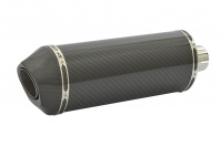 SP Engineering Slip On Oval Carbon Outlet Diabolus XLS Carbon Fibre Exhaust