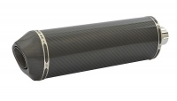 SP Engineering Slip On Oval Carbon Outlet Diabolus XL Carbon Fibre Exhaust