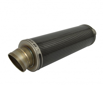 SP Engineering 50.9mm Slip On Round GP-RA 300 Carbon Fibre Exhaust