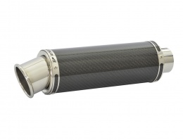 Ducati Monster 620 (01-06) Round Big Bore Stubby Carbon Fibre Exhausts