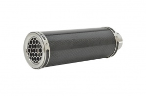 Ducati Monster 620 (01-06) Round HC-R Stubby Carbon Fibre Exhausts