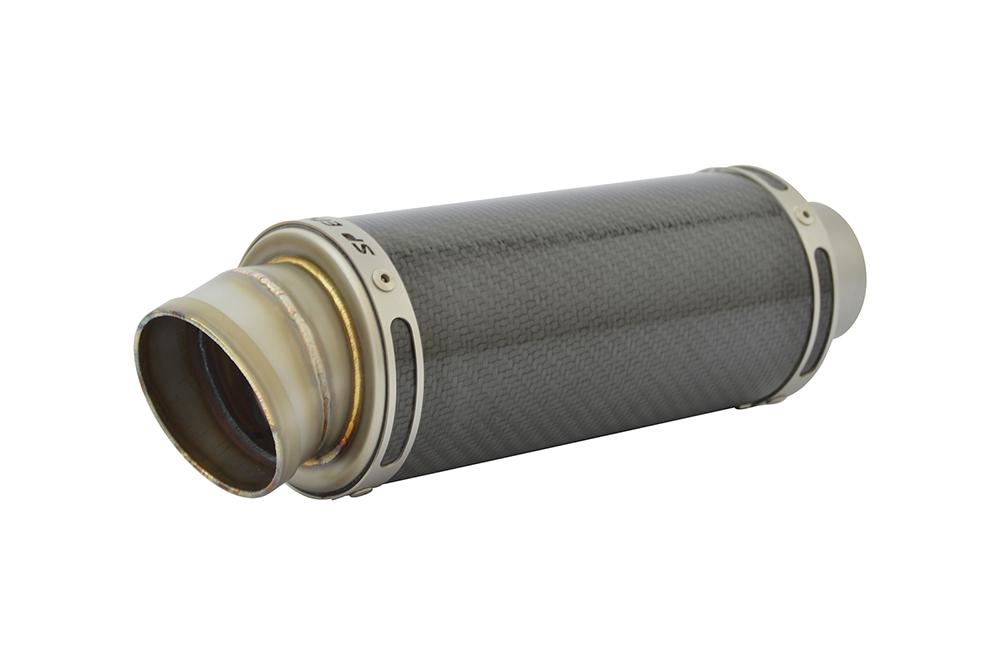 Speed Triple 1050 Exhaust 11-15 SP Engineering Carbon Fibre Stubby Moto GP 3-1