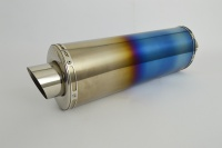 Coloured Titanium Oval Moto GP XL Exhaust - 2'' Slip on - Clearance