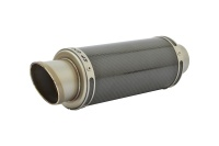 SP Engineering 50.9mm Slip On Round GP-R Xtreme Carbon Fibre Exhaust