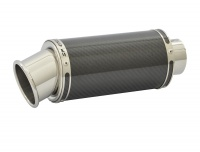 SP Engineering 50.9mm Slip On Round Big Bore Xtreme Carbon Fibre Exhaust