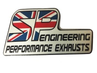 Motorcycle Exhaust Brand Sticker - Silver Foil