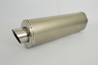 Plain Titanium Oval Moto GP XL Exhaust - 2'' Slip on - Clearance