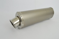 Plain Titanium Oval Big Bore XL Exhaust - 2'' Slip on - Clearance