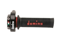 Domino XM2 Quick Action Throttle + Black/Red Grips + Universal Cable
