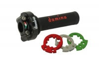 Domino XM2 Quick Action Throttle + Black/Red Grips