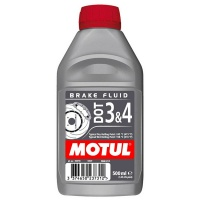 Motul Brake & Clutch  Fluid DOT 3 + Brake Fluid DOT 4  - 500ml