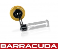 Barracuda SKIN Bar End Mirrors - Gold