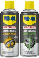 WD40 Chain Wax + Chain Cleaner 400ml