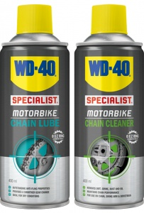 WD40 Chain Lube + Chain Cleaner 400ml